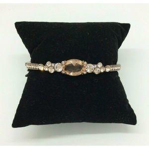 Givenchy Rose Gold Orange Bling Hinged Bracelet